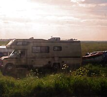 campervan in a field by dnilasor