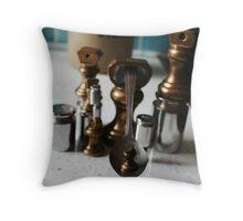modern art with kitchen utensils Throw Pillow