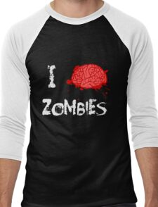 I BRAINS Zombies Men's Baseball ¾ T-Shirt