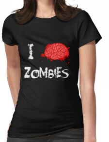 I BRAINS Zombies Womens Fitted T-Shirt