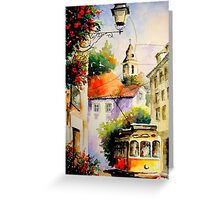 travel in lisbon.. Greeting Card