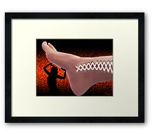 ☝ ☞ FOOT'N STITCHES U RAISE ME UP (PLZ VIEW LG 2 C EFFECT OF WOUND)☝ ☞ Framed Print