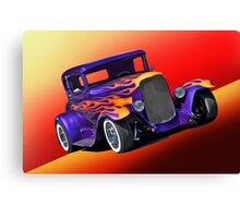 1930 Ford Model A Coupe w/Flames Canvas Print
