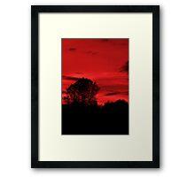 Blood Sky Framed Print