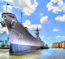 USS Wisconsin BB64 by WestBigSky