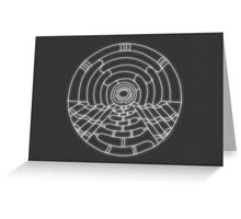 Music Hall Card - white design Greeting Card