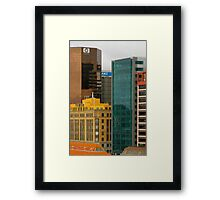Auckland Seafront Buildings New Zealand Framed Print