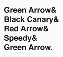 Team Arrow Super Names T-Shirt