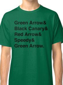 Team Arrow Super Names Classic T-Shirt
