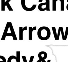 Team Arrow Super Names Sticker