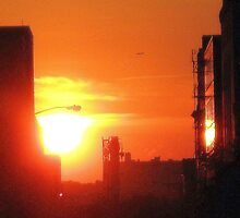 Sundown in New York City  by Alberto  DeJesus