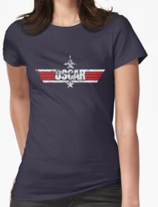 Custom Top Gun Style - Oscar Womens Fitted T-Shirt