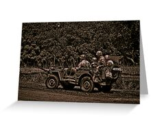 WWII Jeep Greeting Card