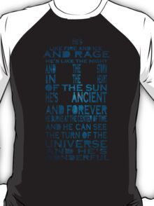 Doctor Who Tardis Quote Design T-Shirt