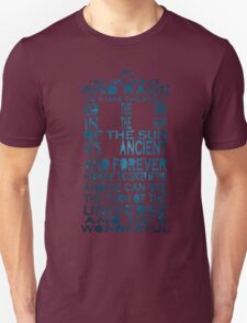 Doctor Who Tardis Quote Design Unisex T-Shirt