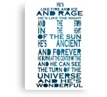Doctor Who Tardis Quote Design Canvas Print