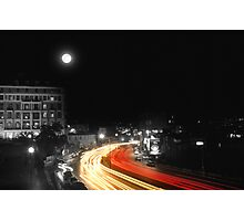 City and the moon Photographic Print