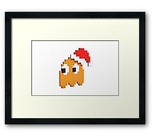 Pac-Man Christmas  Framed Print