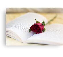 Book & Rose Canvas Print