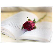 Book & Rose Poster