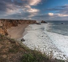 Dusk Hole in the Wall Beach - Santa Cruz by Richard Thelen