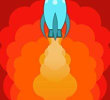 Rocket ship after launch by janna barrett