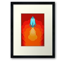 Rocket ship after launch Framed Print