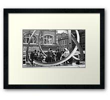 teenagers meeting Framed Print
