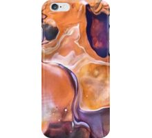 Abstract swirl of orange and mauve iPhone Case/Skin