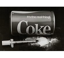 coke the real thing Photographic Print