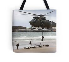 soldiers on a rescue mission Tote Bag