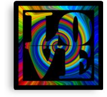 retro color spiral square love art Canvas Print