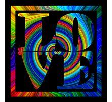 retro color spiral square love art Photographic Print