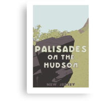 Palisades on the Hudson Canvas Print