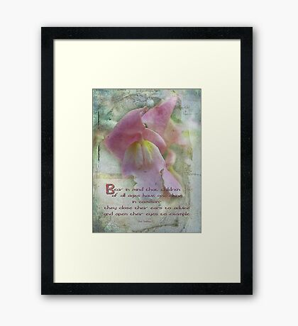 Children-inspirational Framed Print