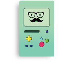 Beemo Mustache - Adventure Time Canvas Print