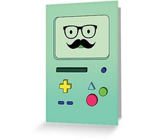 Beemo Mustache - Adventure Time Greeting Card