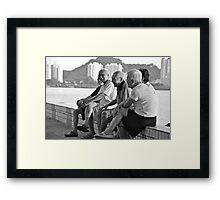 Laughter, Penang. Framed Print