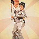 polygonal japanese dancer by parisiansamurai