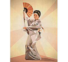 polygonal japanese dancer Photographic Print