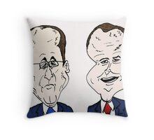 Francois Hollande et David Cameron caricature Throw Pillow