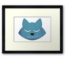 """We All Have Secrets"" Minimalist Style Framed Print"
