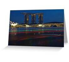 Marina Bay Sands , Singapore  Greeting Card