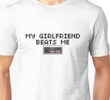 My Girlfriend Beats Me (Dark Text) Unisex T-Shirt