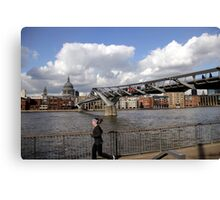 Millennium Bridge and St.Paul's Cathedral Canvas Print