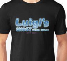 Luigi's Ghost Sucking Services ~ Blue Variant Unisex T-Shirt