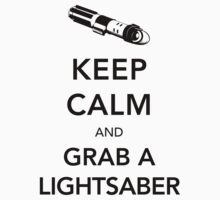 Keep Calm Lightsaber T-Shirt