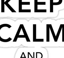 Keep Calm Lightsaber Sticker