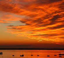 Sunset over Yarmouth Pier by Jonathan Cox