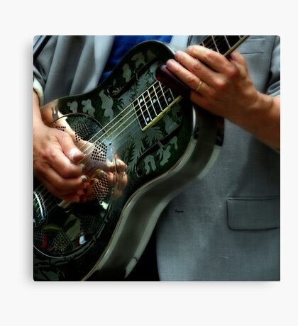 Blues of Steel  Canvas Print